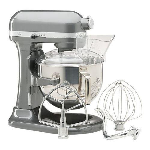 New Kitchenaid 600 Big Capacity 6-Quart Pro Stand Mixer Silver & Gloss Cinnamon front-440965
