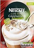 Nescafé Café Menu Cappuccino Unsweetened Taste 10 x 16.5g (Pack of 12, Total 120 Sachets)