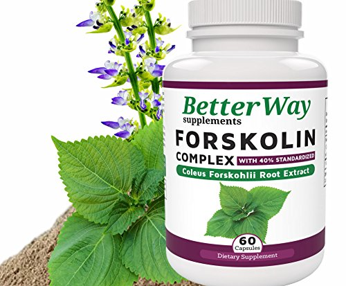 PURE FORSKOLIN FAT BURNER SUPPLEMENT made from Coleus Forskohlii Root Extract giving Safe All Natural Diet Pills to Burn Body Fat and Help Slim with Effective Weight Loss from BetterWay Supplements (Forskoline Extract compare prices)