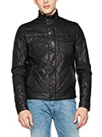 Guess Chaqueta Diamond Quilted Pu (Negro)