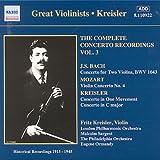 J.S. バッハ/モーツァルト:ヴァイオリン協奏曲(クライスラー)(1915 - 1945)