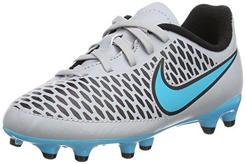 Nike JR Magista Onda FG Kinder Fussballschuhe wolf grey-turquoise blue-black-black - 35,5