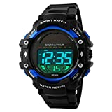 UNIQUEBELLA Mode Armbanduhr 1129 Multifunktional LED Solar Digitaluhr Sportuhr Kinder