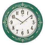 セイコー エムブレム 電波 掛け時計  HS541M 緑色 高級掛時計 ニューモデル