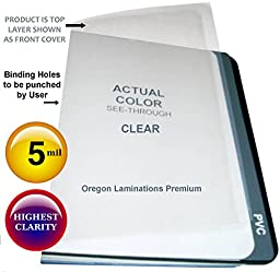 Qty 500 Clear Plastic Report Covers 5 Mil 8-1/2 x 11 Binding Sheets