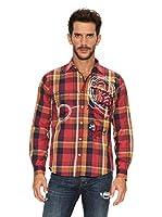 Desigual Camisa Orlando (Rojo / Teja)