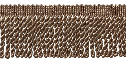 2.5 Inch Bullion Fringe Trim, Style# EF25 Color: DARK SAND - A8, Sold By the Yard