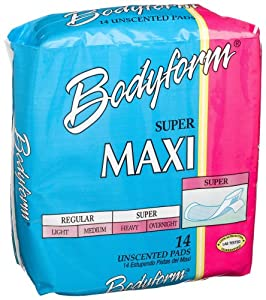 Bodyform Super Maxi Pads, 14-Count Package (Pack of 36)
