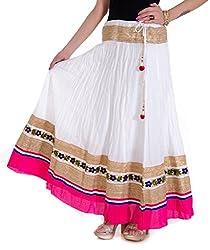 Rangsthali Cotton Designer Party Wear long Skirt for women