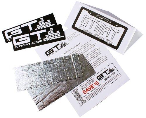 Buy  GTMAT License Plate Kit Automotive Vibration Sound Deadener 80mil Ultra - Sound Dampening Installation Kit Includes: 2 Sheets (4