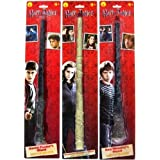 Bundle - 3 items: Harry Potter, Ron Weasley, and Hermione Granger Magic Wands (Color: Brown)