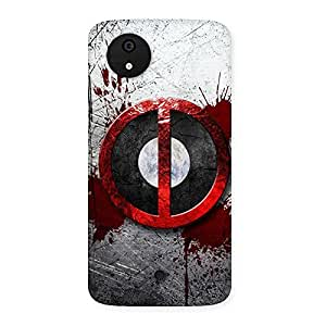 Gorgeous Bleed Dead Multicolor Back Case Cover for Micromax Canvas A1
