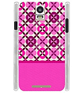 Pink Design Pattern Soft Silicon Rubberized Back Case Cover for Xolo Era
