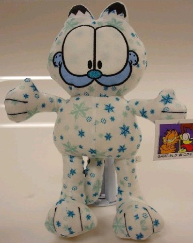 "Winter Wonderland 9"" Snowflake Plush Garfield Fat Cat Doll - 1"