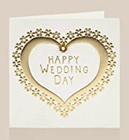 Gold Heart Wedding Card