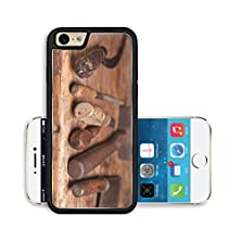 buy Liili Premium Apple Iphone 6 Iphone 6S Aluminum Snap Case Wooden Bench With Rusty Grungy Tools And Handles Image Id 9600565