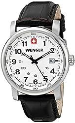 Wenger Men's 1041.101 Analog Display Swiss Quartz Brown Watch