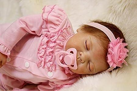 """55cm 22"""" Reborn bébé Poupée en Vinyle souple en silicone Magnétique Bouche Lifelike Garçon Fille réaliste Nouveau-né Baby Lifelike Reborn Doll Handmade Playmate marché Jouet"""