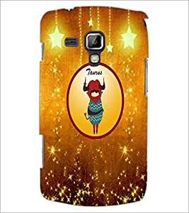 PrintDhaba Zodiac Taurus D-3742 Back Case Cover for SAMSUNG GALAXY S DUOS S7562 (Multi-Coloured)