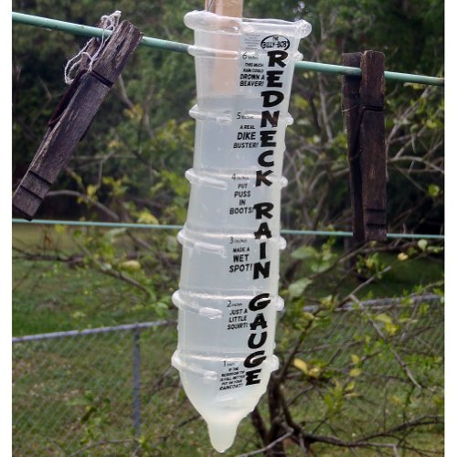 Hilarious Adult Humor Redneck Rain Gauge - Condom Shaped Novelty