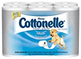 "Kimberly-Clark Kleenex Cottonelle 12456 Ultra Soft Bath Tissue, 4-3/16"" Length x 4"" Width, White (4 Packs of 12 Rolls)"