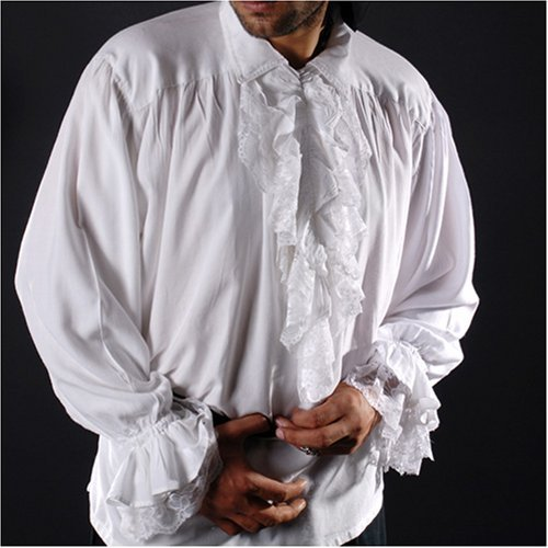 ThePirateDressing Pirate Gothic Renaissance Medieval Costume Shirt (X-Large, White)
