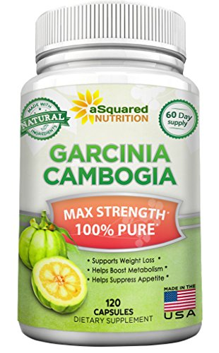 100% Pure Garcinia Cambogia Extract (120 Capsules) Ultra High Strength 80% HCA, Natural Weight Loss Diet Pills XT, Extreme Fat Burner Slim & Detox Max, Blocker Supplement for Men & Women, Made in USA (Mango Extract Weight Loss compare prices)