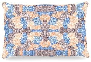 "Kess InHouse Empire Ruhl ""Forest"" Fleece Dog Bed, 30 by 40-Inch, Orange/Blue"