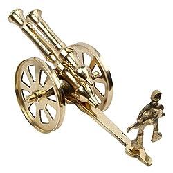 AADI ENTERPRISES Brass Rajasthani Canon Handicraft Home Decor Pure Brass Gift Item
