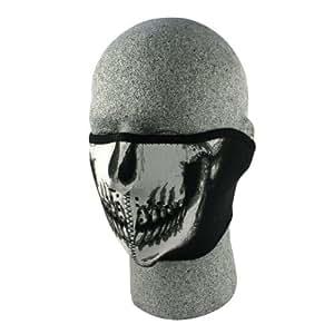 ZANheadgear Neoprene Skull Half Face Mask (White/Black)