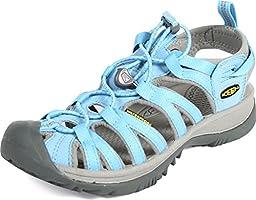 KEEN Women\'s Whisper Sandal, Alaskan Blue/Neutral Gray, 8 M US