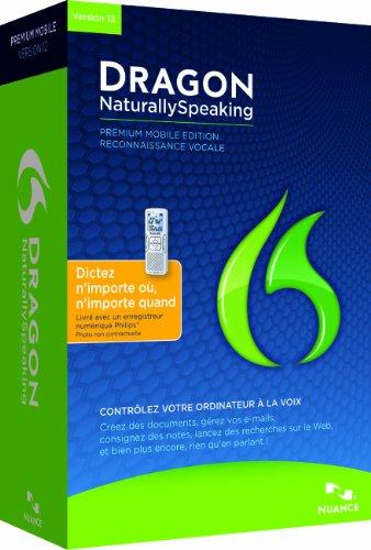 Dragon Naturallyspeaking Premium 12 Mobile (With Digital Recorder), French