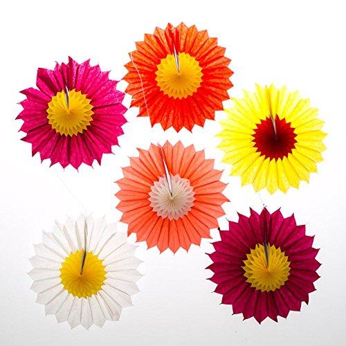Paper Fan Flower Decorations