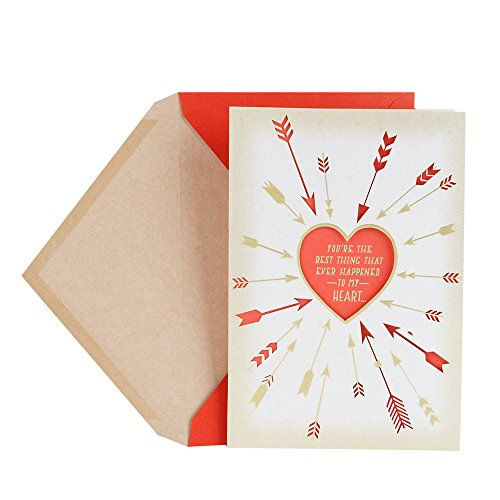 Heart Arrows Valentine Greeting Card