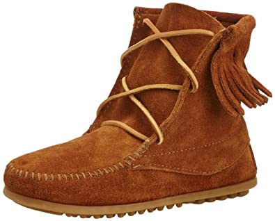 Minnetonka Ankle Hi Tramper Boot (Toddler/Little Kid/Big Kid),Brown,1 M US Little Kid
