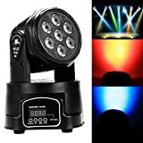 Cnlinkco 7 x 12W RGBW LED Mini Moving Head DJ Disco Stage Party Effect Lighting