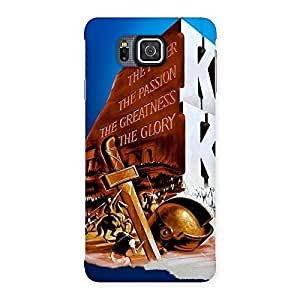 Cute King Power Back Case Cover for Galaxy Alpha