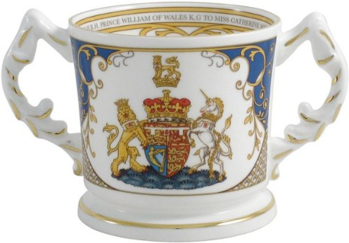 Aynsley Royal Wedding Prince William and Kate Middleton Loving Cup