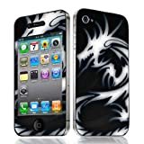 Xtra-Funky Exclusive Mystic White Dragon Design Fashionable High Quality Protective Decal Skin Cover Vinyl Sticker For Apple iPhone 4 & 4S (iPhone 4 - 4S, White & Black Dragon)by Xtra-Funky