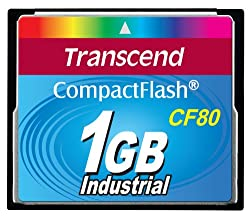 Transcend TS1GCF80 1GB 80x Type I Compact Flash Card