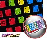 DVORAK LEARNING KEYBOARD STICKER FOR NOTEBOOK, DESKTOP AND LAPTOP