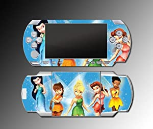 Tinkerbell Princess Fairy Family Tinker Bell Cartoon Movie Video Game Vinyl Decal Skin Protector Cover Kit for Sony PSP 1000 Playstation Portable