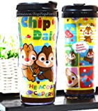 Disney Chip 'N' Dale Plastic Double Wall Thermos Travel Mug Coffee Tea Cup 13-ounce