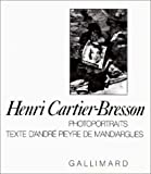 Photoportraits (French Edition) (2070110931) by Cartier-Bresson, Henri