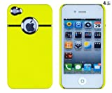 Neon Yellow Chrome Case for Apple iPhone 4, 4S (AT&T, Verizon, Sprint)