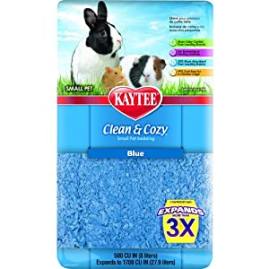 Kaytee Clean and Cozy Bedding, Blue, 500-Cubic-Inch
