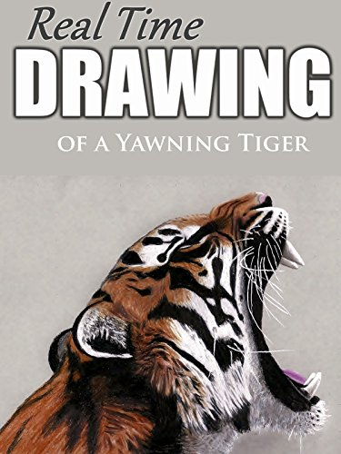 Real Time Drawing of a Yawning Tiger