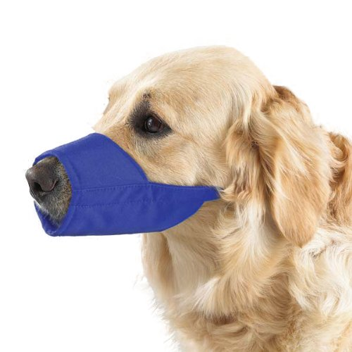 Guardian Gear Nylon Lined Fashion Dog Muzzle, 10-1/2-Inch Snout, Size 3, X-Large, Blue