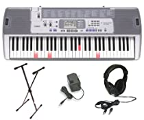 Casio LK100 Lighted Keyboard with Premium Accessories Package