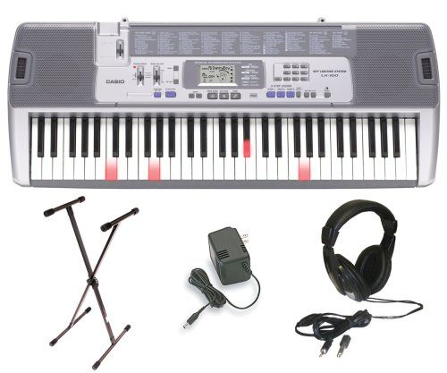 Casio LK-100 Lighted Keyboard with Premium Accessories Package